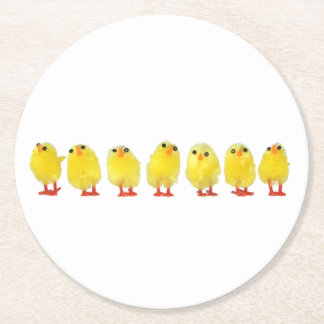 Little Chicks Paper Coasters Round Paper Coaster