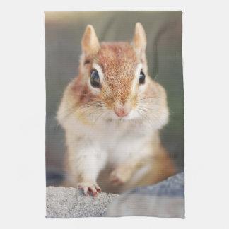 Little Chipmunk Portrait Tea Towel