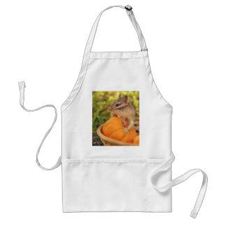 Little Chipmunk with Pumpkin Adult Apron