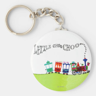Little Choo Choo Basic Round Button Key Ring