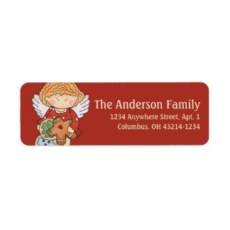 Little Christmas Angel Return Address Label - d1