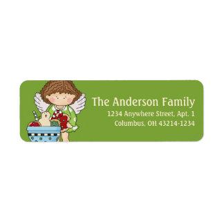 Little Christmas Angel Return Address Label - d2