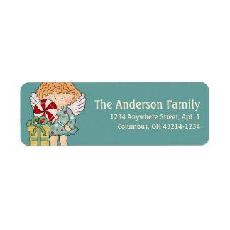 Little Christmas Angel Return Address Label - d4
