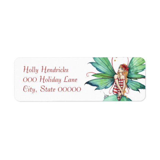 Little Christmas Fairy Return Address Label