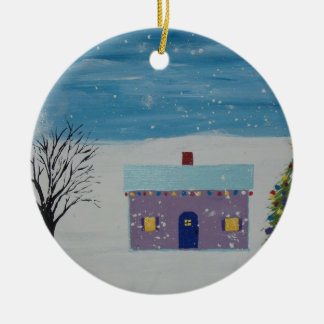 Little Christmas House Christmas Ornament