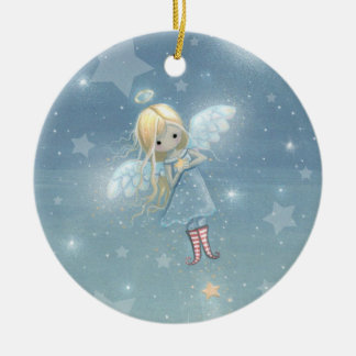 Little Christmas Star Angel Ornament