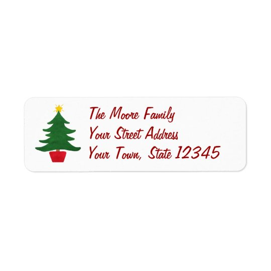 Little Christmas Tree - Address Label