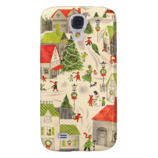 Little Christmas Village Galaxy S4 Case