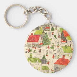 Little Christmas Village Keychains