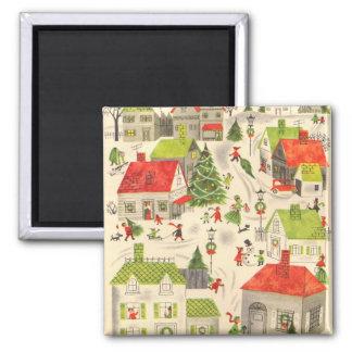 Little Christmas Village Fridge Magnets