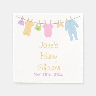 Little Clothes Baby Shower Napkins Paper Napkin