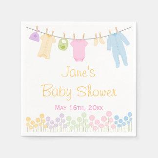 Little Clothes Baby Shower Napkins Paper Serviettes