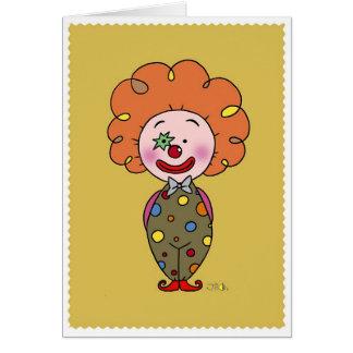 Little clown greeting card
