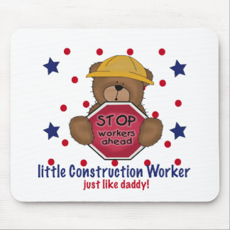 Little Construction Worker Like Daddy Mouse Pad