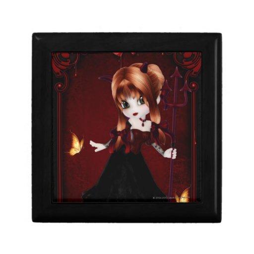 Little Cookie Devil Girl 3 Fantasy Art Jewelry Box