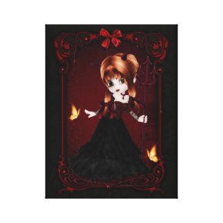 Little Cookie Devil Girl Design 3 Wrapped Canvas Canvas Prints