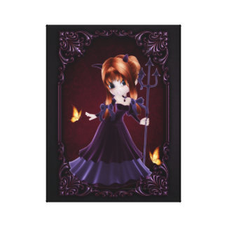 Little Cookie Devil Girl Design 5 Wrapped Canvas Gallery Wrap Canvas