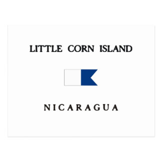 Little Corn Island Nicaragua Alpha Dive Flag Postcard
