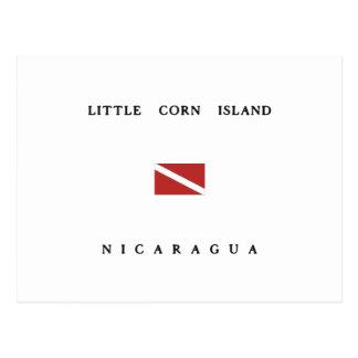 Little Corn Island Nicaragua Scuba Dive Flag Postcard