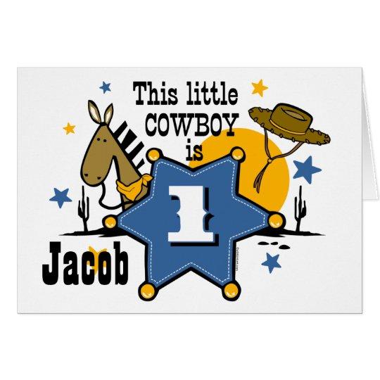 Little Cowboy 1st Birthday  Card