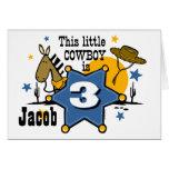 Little Cowboy 3rd Birthday Card