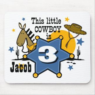 Little Cowboy 3rd Birthday Mousepad
