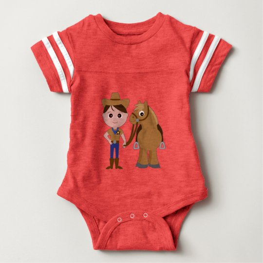 Little Cowboy and Pony Baby Bodysuit