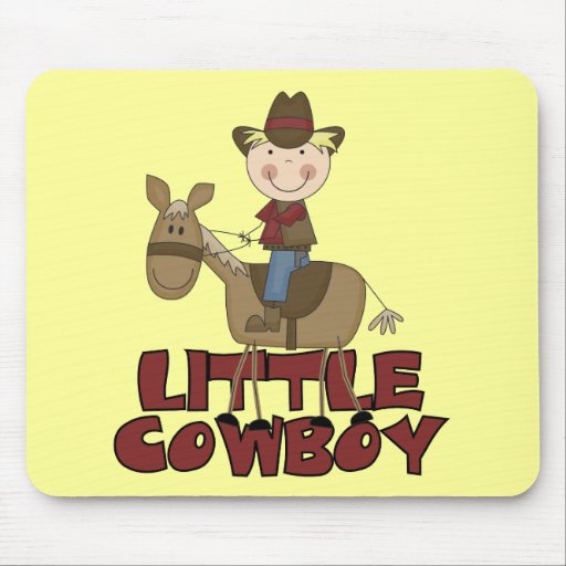 Little Cowboy Tshirts and Gifts Mousepads
