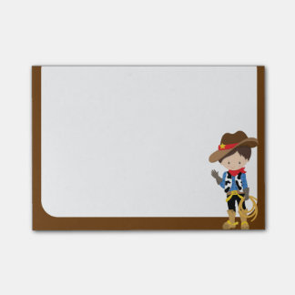 Little Cowboy with Rope and Blue Shirt Post-it Notes
