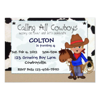 Little Cowboys Custom Invitations