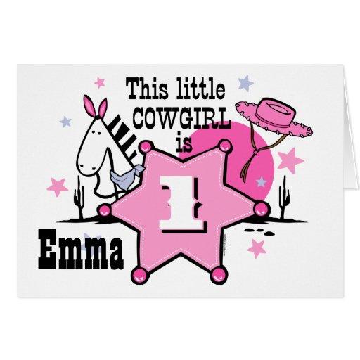 Little Cowgirl 1st Birthday Card