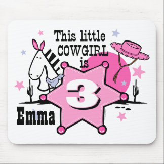 Little Cowgirl 3rd Birthday Mousepad