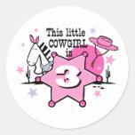 Little Cowgirl 3rd Birthday Sticker
