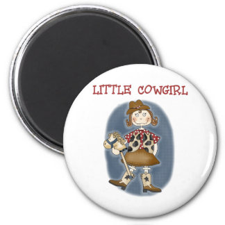 Little Cowgirl 6 Cm Round Magnet