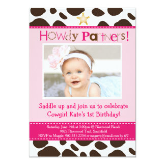 Little Cowgirl Party Invitation
