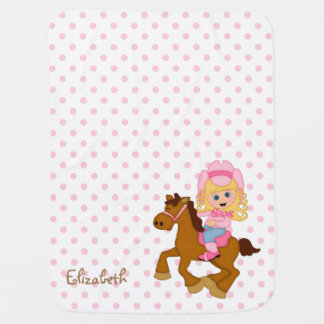 Little Cowgirl Personalized Baby Blanket