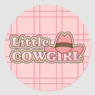 Little Cowgirl Pink Fun Stickers