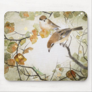 Little Creature-Bull-headed Shrikes Mouse Pad