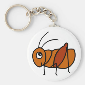 Little Cricket Basic Round Button Key Ring