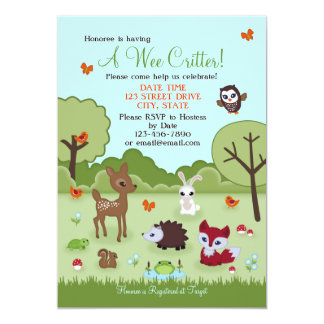 Little Critter Woodland Animals Shower Invitation