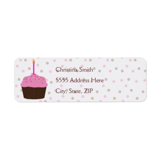 Little Cupcake Return Address Label