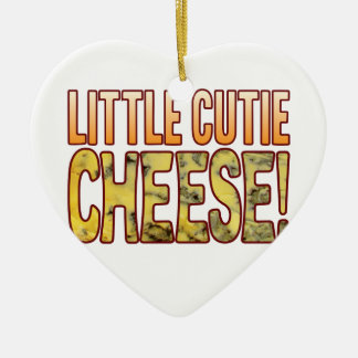Little Cutie Blue Cheese Ceramic Heart Decoration