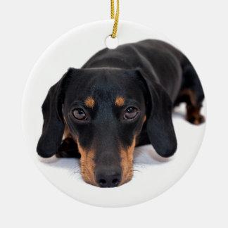 Little Dachshund Christmas Ornament