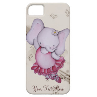 Little Dancing Ballerina Elephant iPhone 5 Case