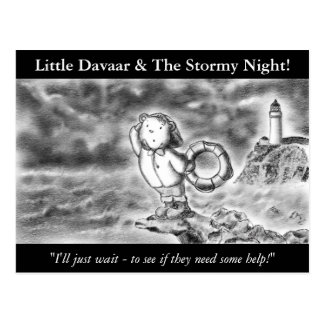 Little Davaar And The Stormy Night! Postcard