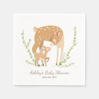 Little Deer Paper Napkin woodland Baby Shower