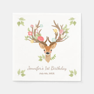 Little Deer Paper Napkin woodland Birthday Forest