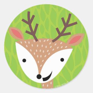 Little Deer - Woodland Friends Round Sticker