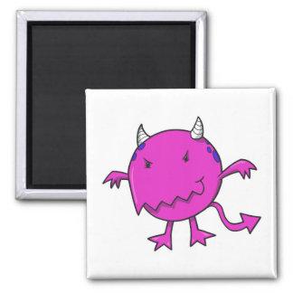 little devil inside hot pink fridge magnet