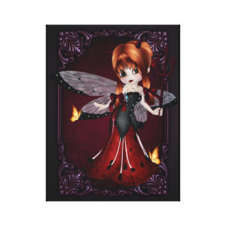 Little Devil Ladybug Design 3 Wrapped Canvas Canvas Print